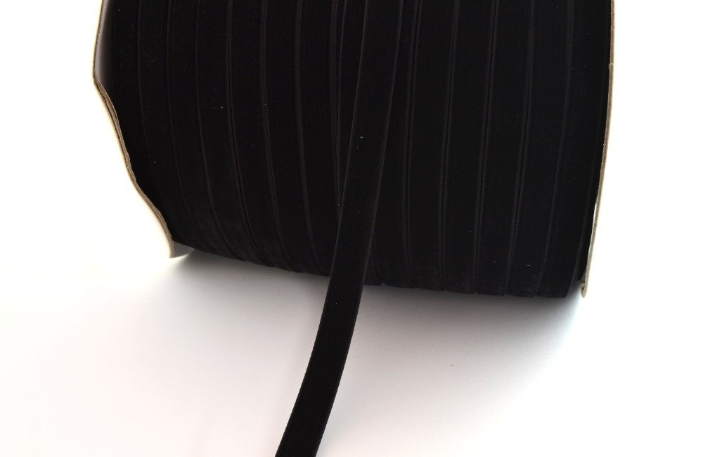 Ruban velours 10 mm noir