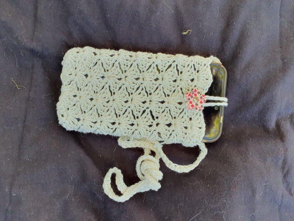 Pochette tour de cou en coton