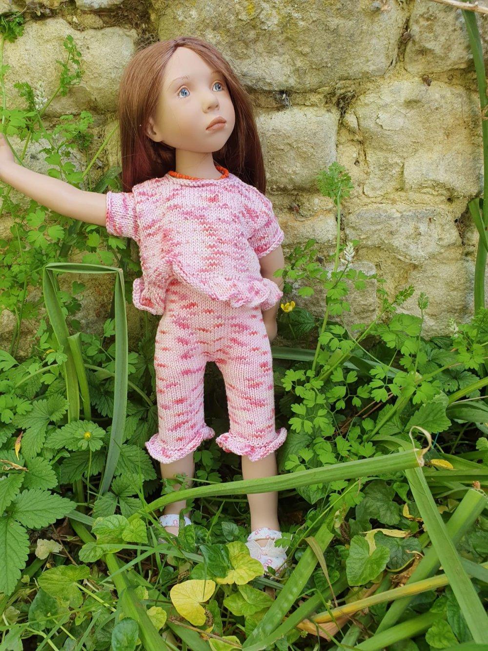 Tenue deux pièces pour poupée zwergnase 55 cm