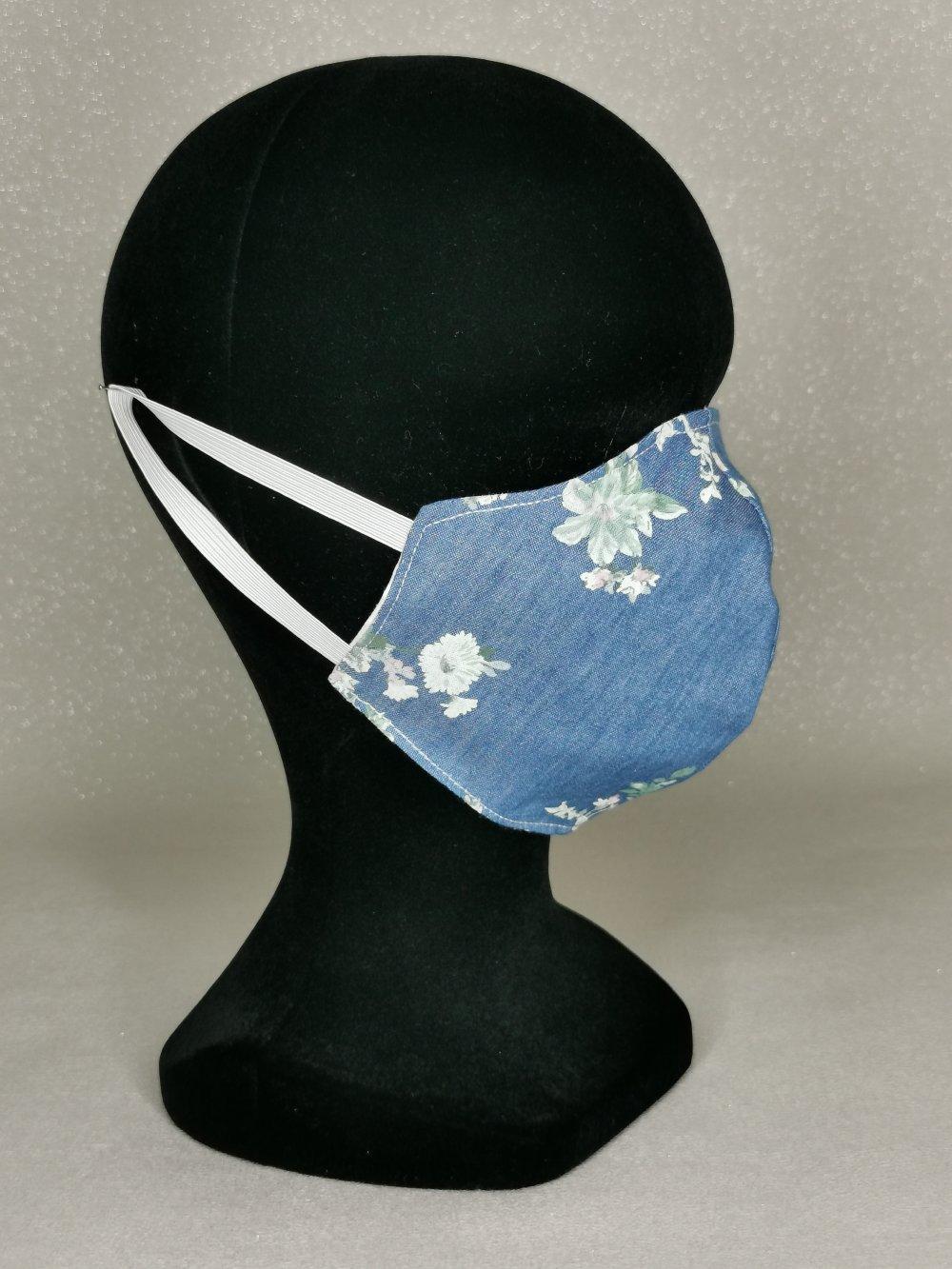 Masque de protection en tissus, masque réutilisable masque en tissus et lavable