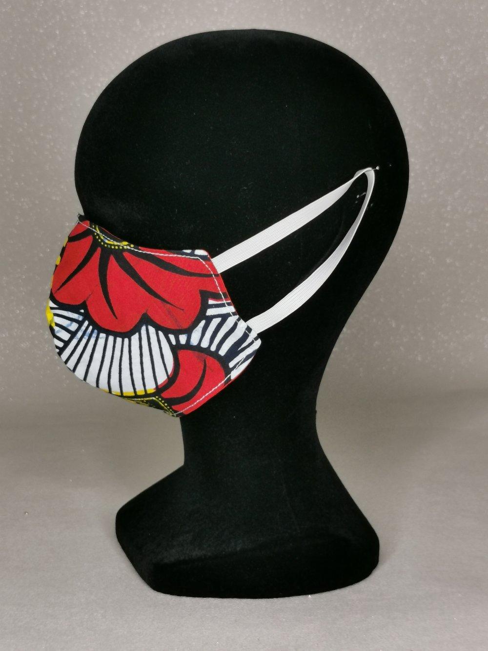 Masque de protection en coton, masque lavable et réutilisable