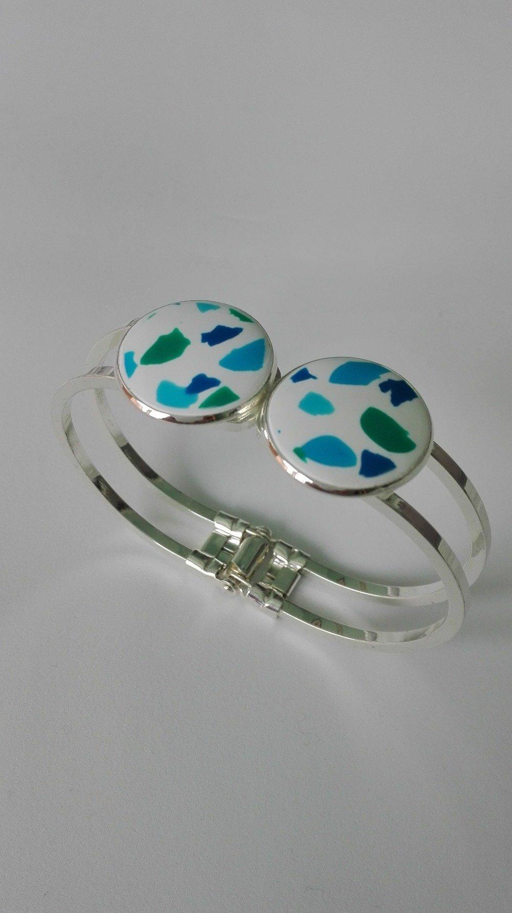 Bracelet manchette , cabochon