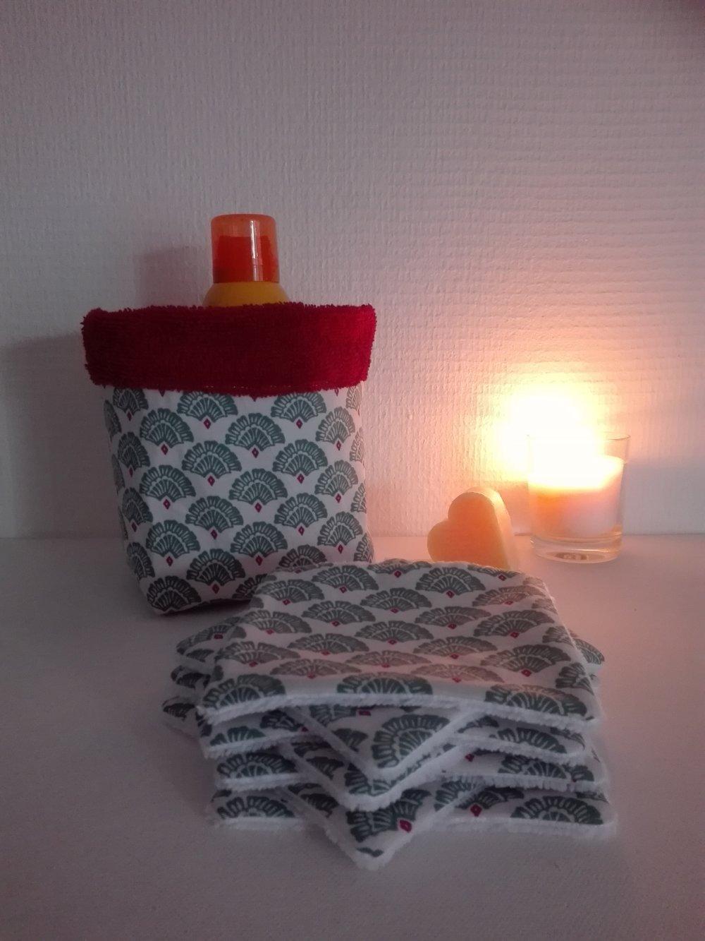 Lingettes  lavables  + panier