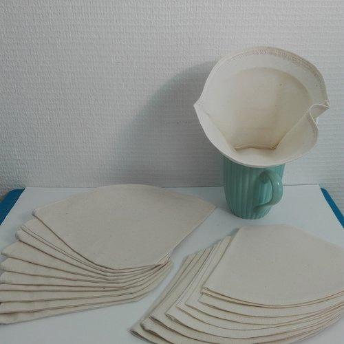 Réservé à cécilia  20 filtres à café réutilisable lavable zéro déchets