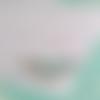 Lotus ▽ collier en cuir gris et turquoise