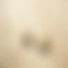 Australe ▽ boucles d'oreille dormeuses, triangles en métal argenté et cuir