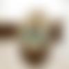 Boucles d'oreilles géométriques bronze et turquoise