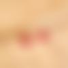 Circle ▽ boucles d'oreilles rouges et argentées
