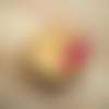 Circle ▽ boucles d'oreilles fuchsia et argentées