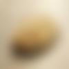 Circle ▽ boucles d'oreilles moutarde et argentées