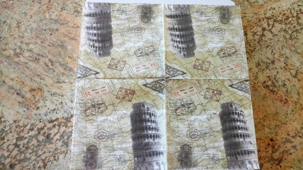 """Serviettes en papier """"Italie et sa tour de Pise"""""""