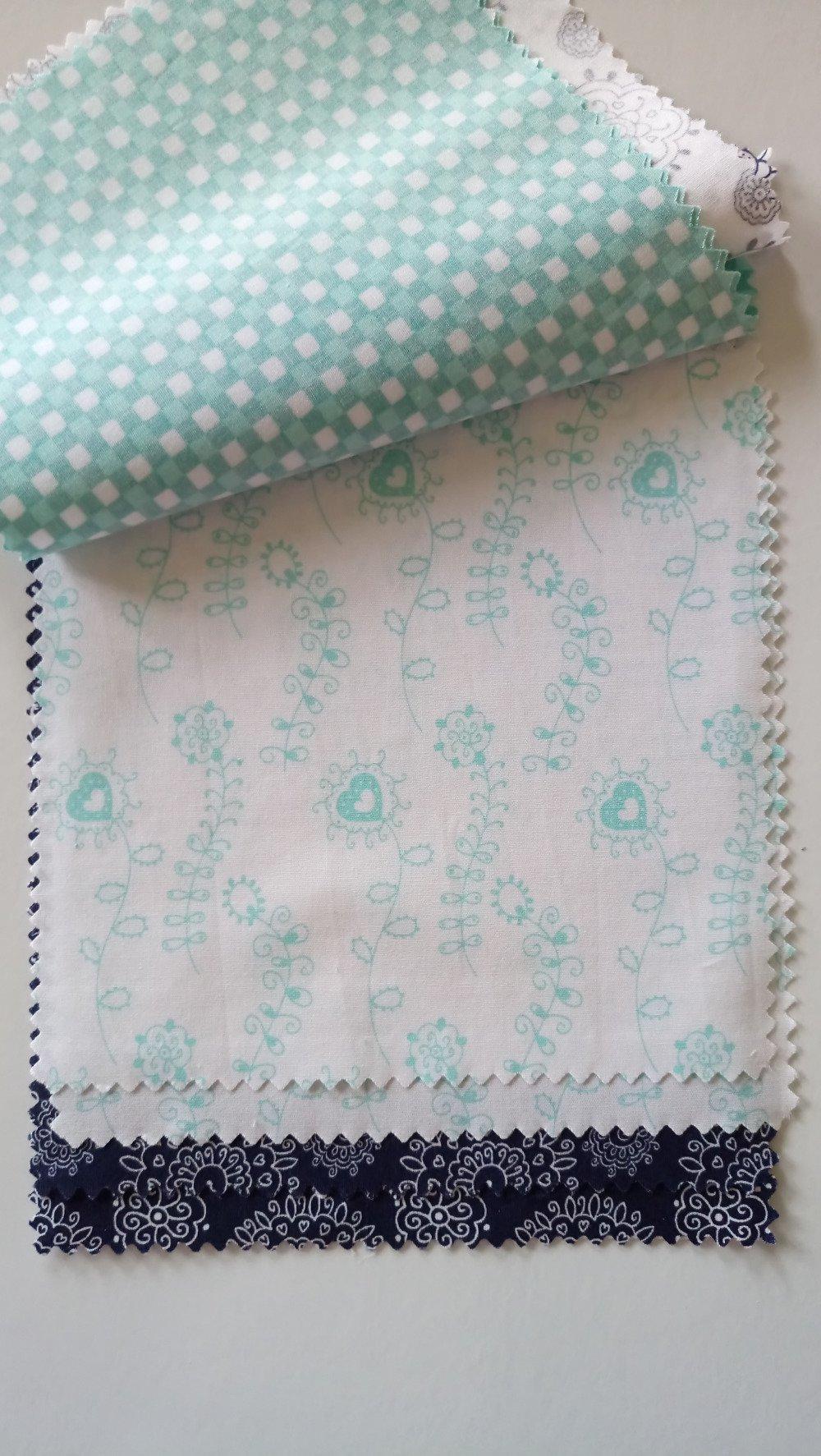 Coupons de tissus motifs lot de 8