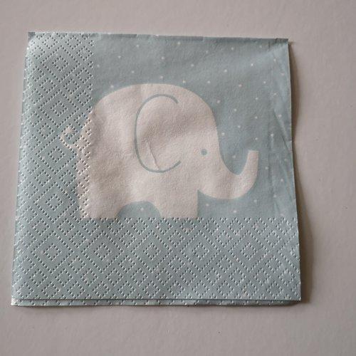 """Serviettes en papier enfant """"éléphant"""""""