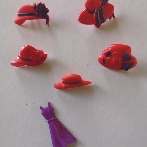 Embellissements boutons mode & chapeaux