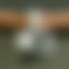 5 perles passantes argent antique, motif briques de part et d'autre, 13 x 13 x 7 mm, trou8 mm