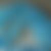 20 perles rondelles, 8 x 6 mm, verre à facettes translucide bleu ciel ab, trou 1 mm environ