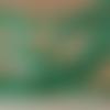 20 petites perles ovales, 6 x 4 mm, ou olives en verre à facettes vert malachite intense