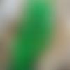 10 perles forme larme ou goutte en verre vert,  13 x 8 mm, trou 1,3 mm