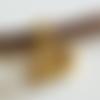 10 perles tubes ou rondelles dorées, passants, 4 x 7 mm, décor géométrique, trou 4,1 mm