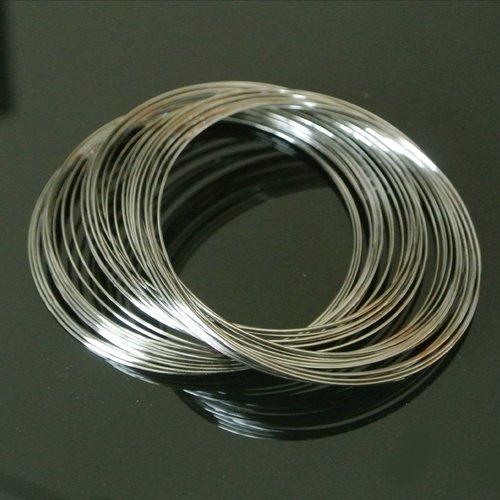 10 tours de fil à mémoire de forme en acier ton gunmetal 60 mm, fil diamètre 0,6 mm