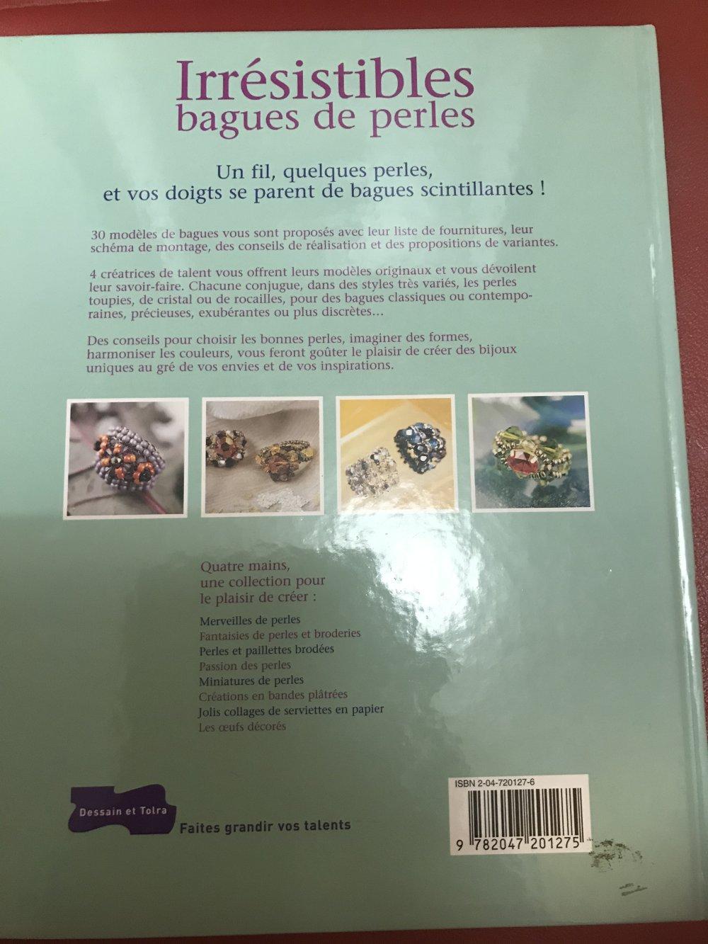 livre création bagues de perles