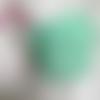 Masque barriere à usage non satinaire lavable 2 épaisseurs en coton oeko tex vert menthe