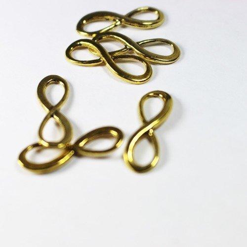20 connecteurs infini doré