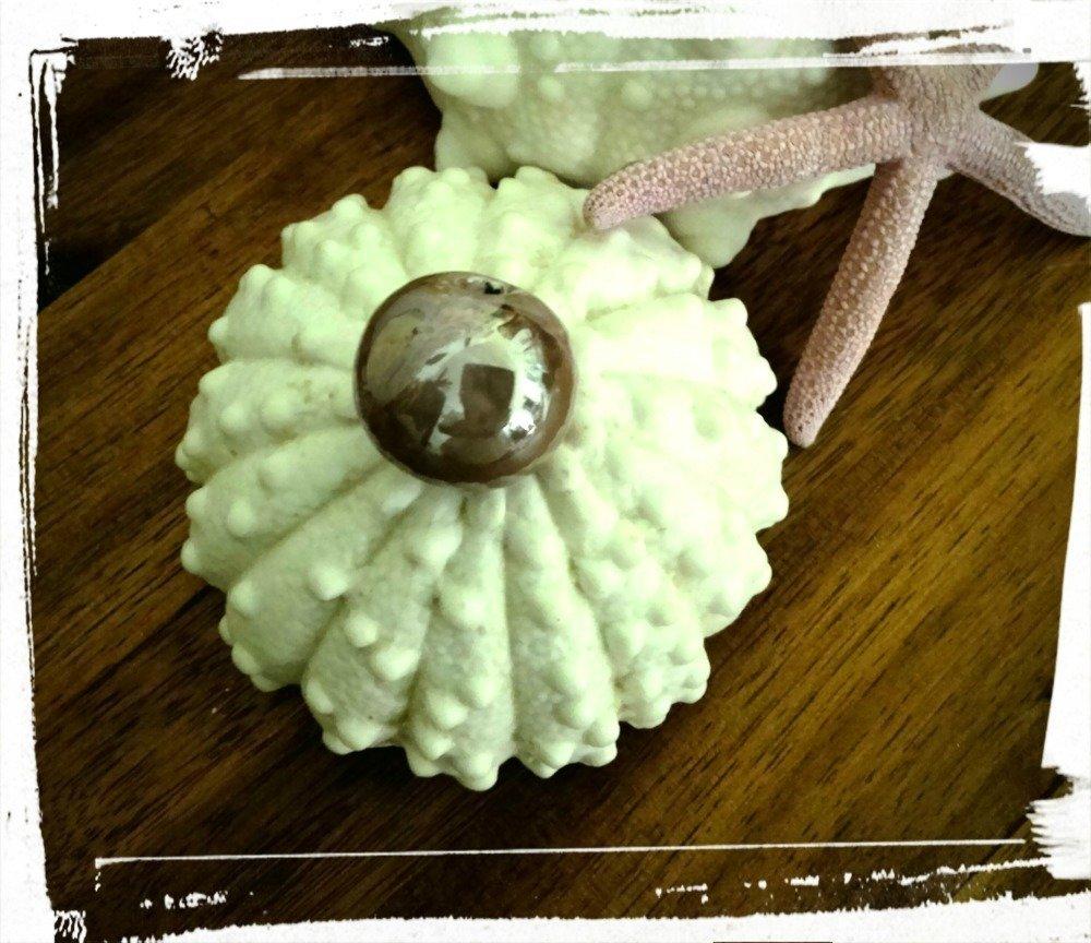 Perle Céramique Grecque émaillée ronde
