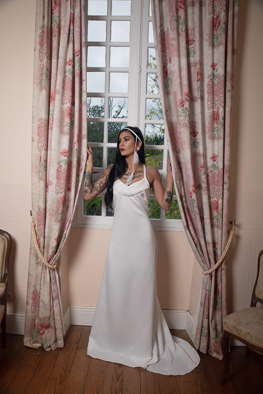"""Robe de mariée ethnique sur-mesure: """"l'Amazone"""""""
