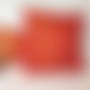 Housse de coussin, rouge impérial, rouge orangé, or,patchwork tissus, coussin japonais, éventails et vagues,  40 x 40