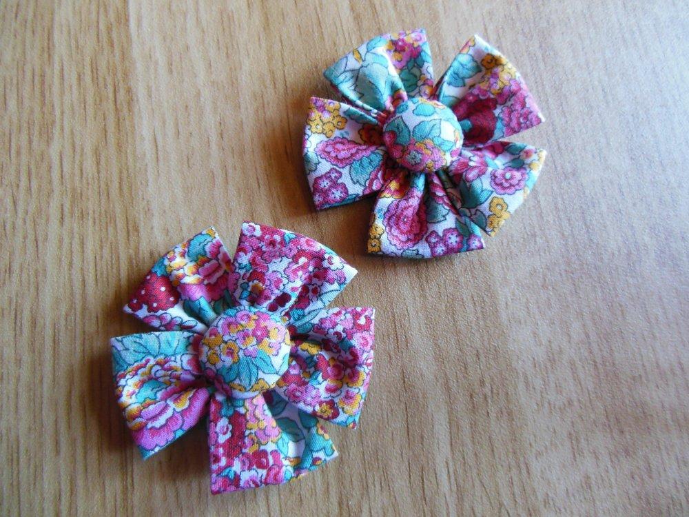Applique fleurs en tissu
