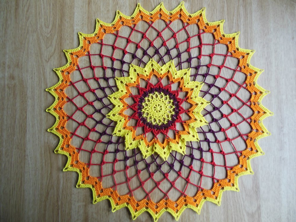 "Napperon crochet ""Kenya"""
