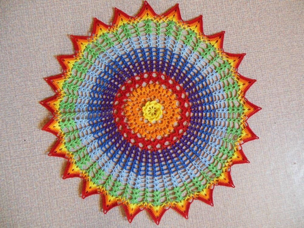 "Napperon crochet ""Ibaia"""