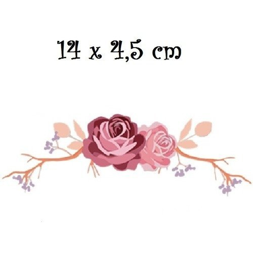 Patch Applique Dessin Transfert Thermocollant Bouquet De Fleurs