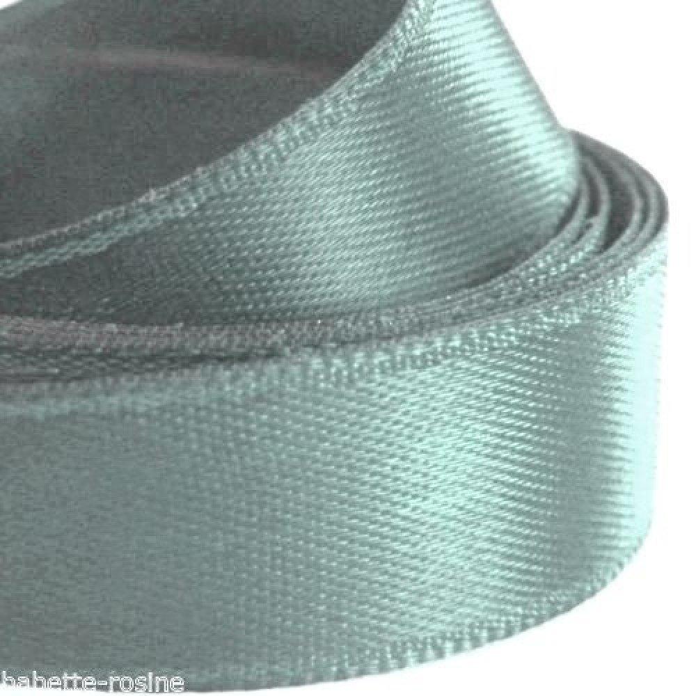 ruban satin  gris acier 16 mm par 2 mètres