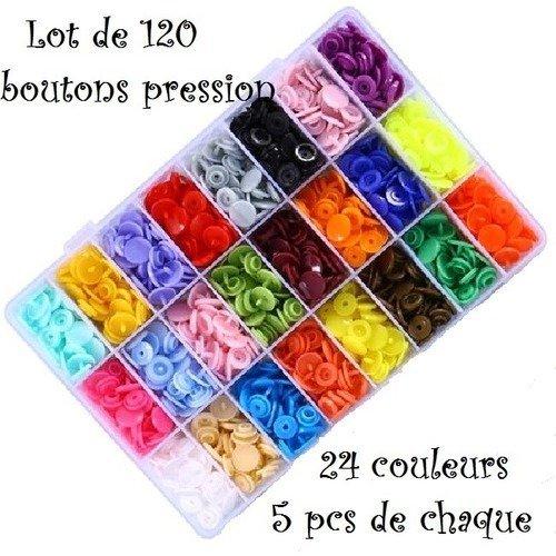 en plastique Lot de 120 Boutons pression pour pince KAM T5 Diamètre 12,4 mm