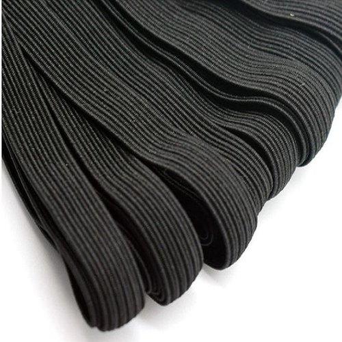 Ruban élastique plat pour masque / noir ** 5 mm ** vendu au mètre