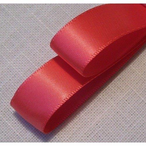 ** 3 mm ** 243 / corail - ruban satin luxe double face - vendu au mètre