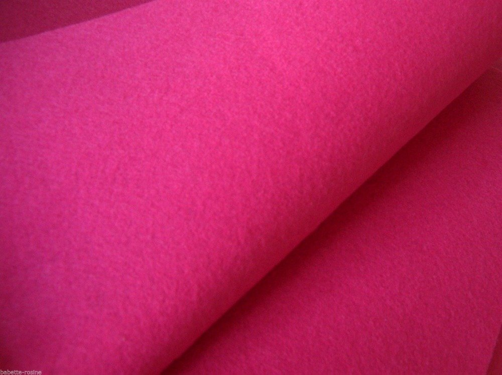 Coupon tissu FEUTRINE ROUGE 25 X 30cm scrapbooking