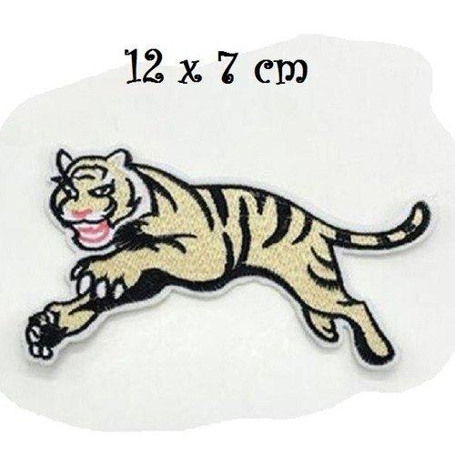 ACD77 APPLIQUE PATCH BRODÉ léopard Panthère 13 x 25 cm écusson à coudre