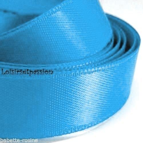 mercerie 1m de ruban satin 4cm largeur article neuf couture bleu turquoise