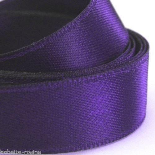 2,50 mètres de ruban satin uni - 077 / violet bleuté ** 6 mm ** galon simple face, mariage, fêtes, loisirs créatifs, noeuds