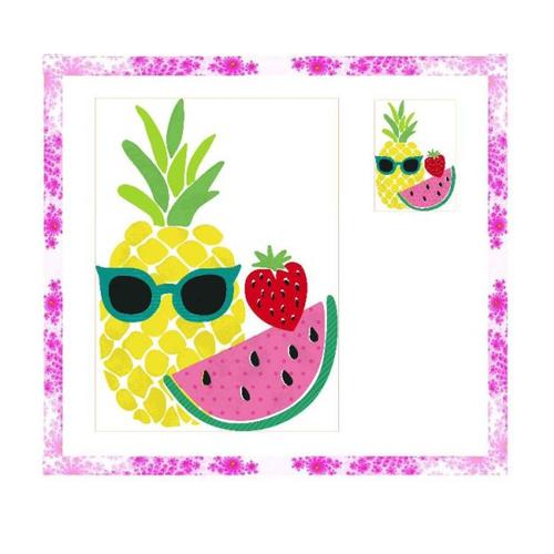Découpe fruits papier scrapbooking