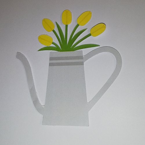 Découpe vase de tulipe papier scrapbooking