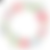 Autocollant stickers couronne de fleur peinture rose embellissement scrapbooking