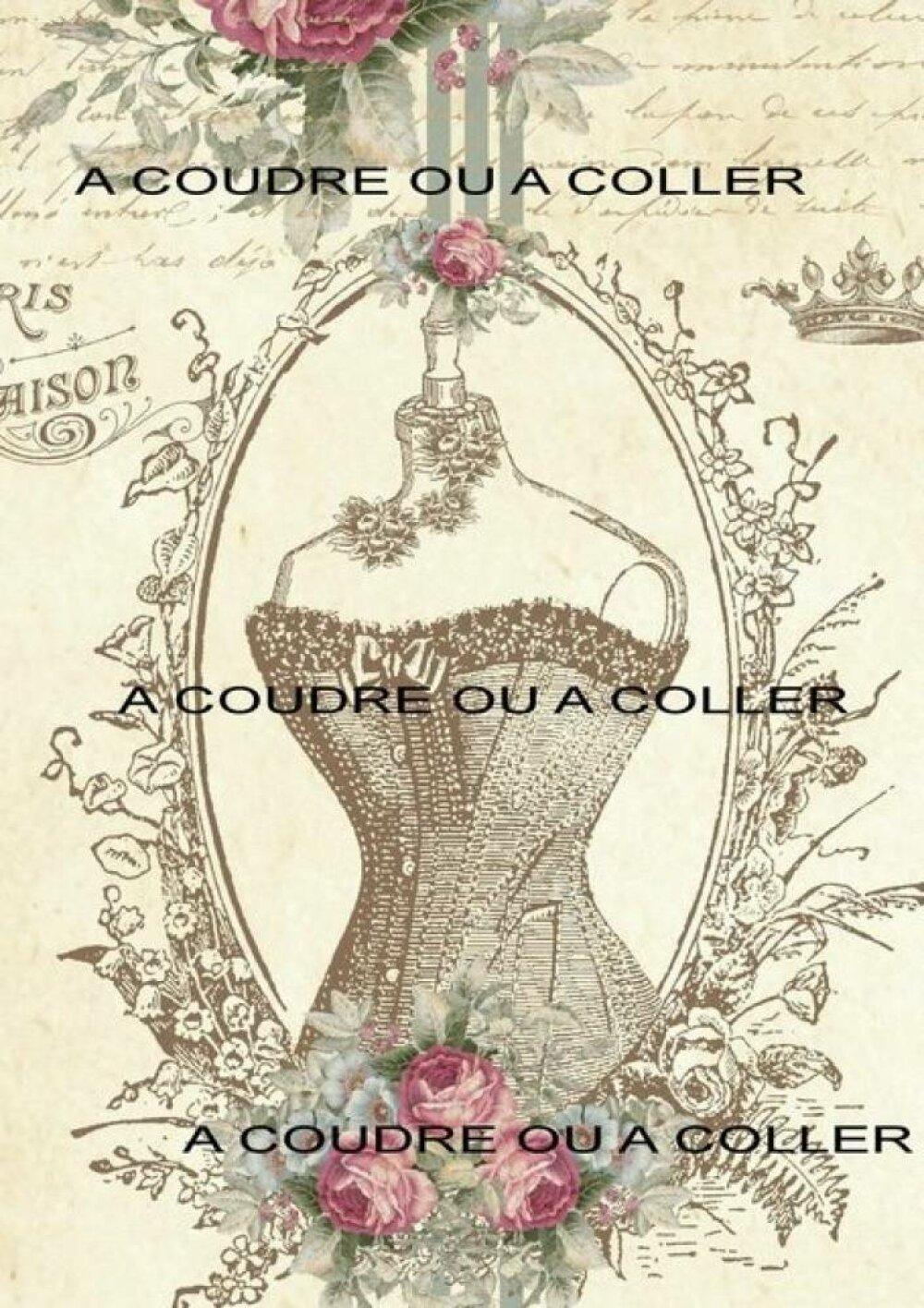 Vignette tissu corset shabby - 24
