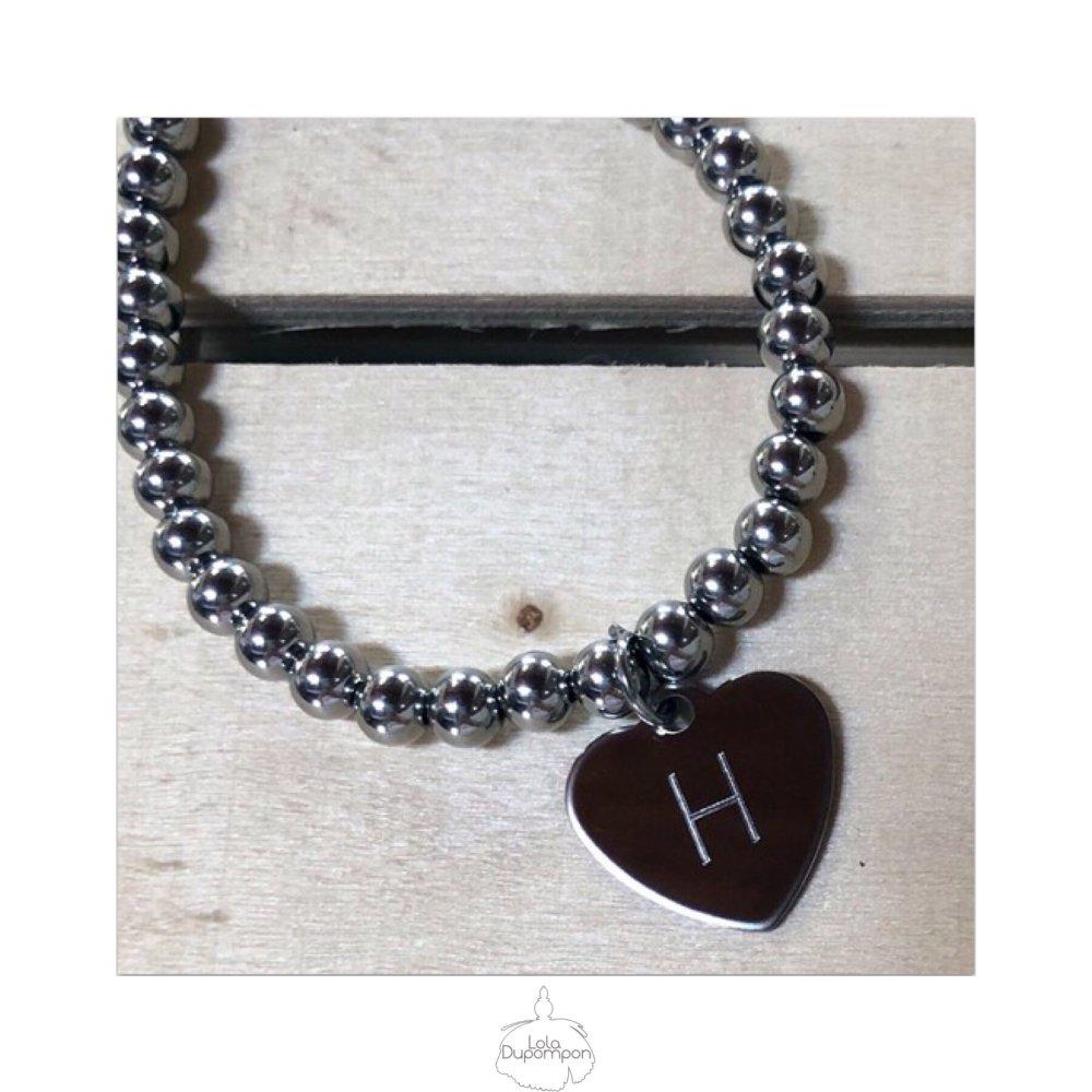 Bracelet Personnalisé Fanfan Initiale - Style d'écriture 1
