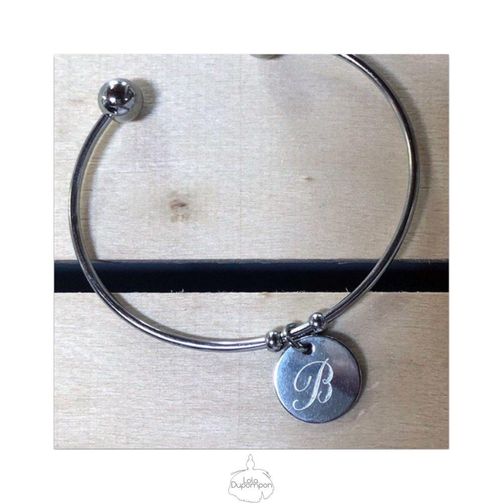 Bracelet Personnalisé Noémie Initiale - Style d'écriture 4