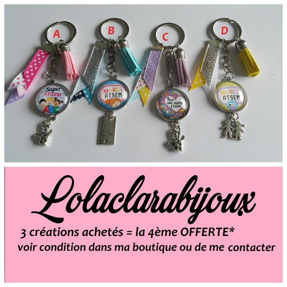 "porte clés atsem"" merci atsem"" by lolaclarabijoux"