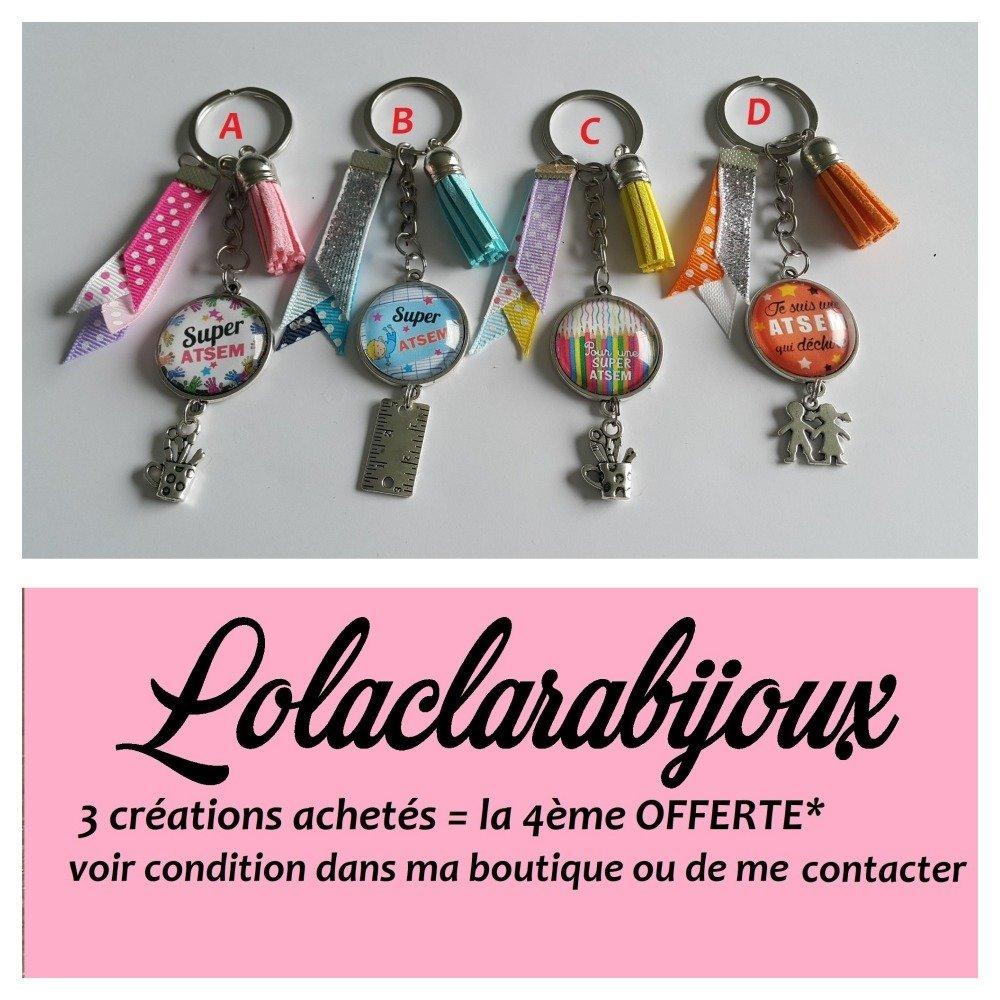 "porte clés atsem"" super atsem"" by lolaclarabijoux"